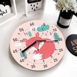 [퍼니즈] 잠자는여우 교육용 벽시계 (무소음) 어린이날 생일선물