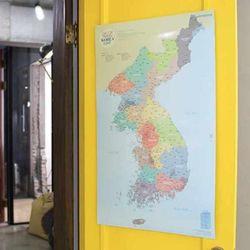 정품 우리나라지도 대한민국지도 한국지도 여행지도