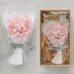 [용돈봉투+쇼핑백증정] 이터니티 수국 꽃다발 박스-프리저브드