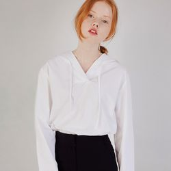 SAILOR SHIRRING BLOUSE (WHITE)