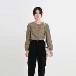 elegance volume blouse (2colors)