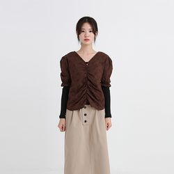 antique middle line blouse  (3colors)