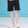 LINEN SIDE SHORTS BLACK