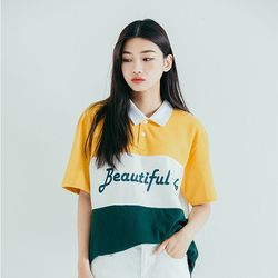 LINE COLLAR TEE YELLOW