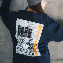 18fw 프롬에이투비 new 카오스 맨투맨 티셔츠 TOB18MT340