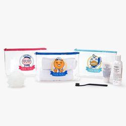카카오프렌즈 마린프렌즈 PVC 투명파우치세트