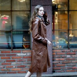 SINGLE TRENCH COAT CAMEL
