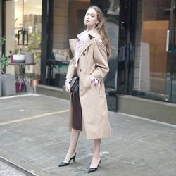 DOUBLE HOOD TRENCH COAT BEIGE