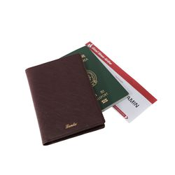 렌토 여권지갑 케이스 버건디