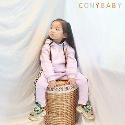[CONY]스마일퍼플기모후드 상하복세트