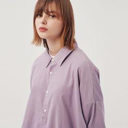 (UNISEX) 오버핏 10수 코듀로이 셔츠 바이올렛