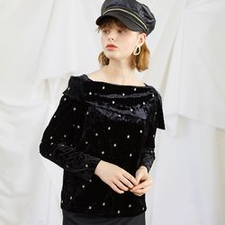 Gold Star Velvet Top