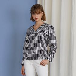 Charlotte Blouse - Gingham Check