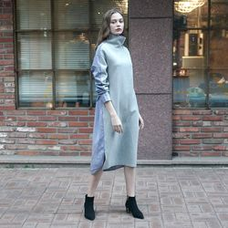 TWO-WAY JERSEY DRESS GRAY