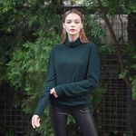HOLE-GARMENT TURTLE KNIT GREEN