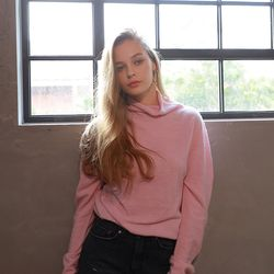 HOLE-GARMENT TURTLE KNIT PINK
