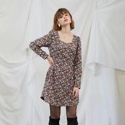 Floral Puff Shoulder Dress