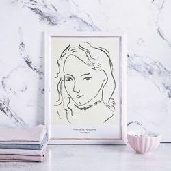 마티스 명화 그림 액자 Portrait De Marguerite 메탈 중형