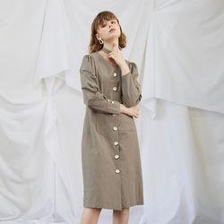 Ash Khaki Midi Dress