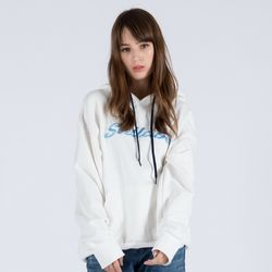 EMBROIDERY PULL OVER HOODIE (WHITE)
