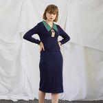 Color Block Jersey Dress (set)