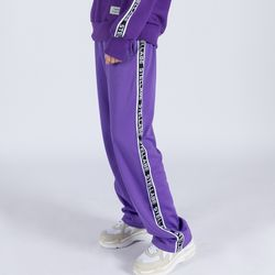 LOGO TAPE TRACK PANTS (PURPLE)