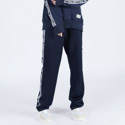 LOGO TAPE TRACK PANTS (NAVY)