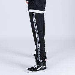 LOGO TAPE TRACK PANTS (BLACK)