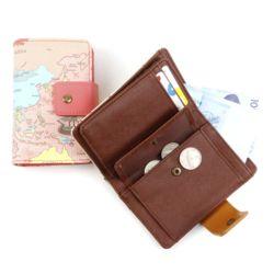 월드맵 하프 지갑
