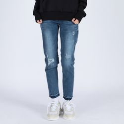 WOMENs BAGGY DESTROYED MID WS (MID WS INDIGO)