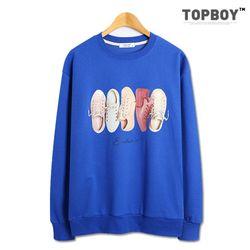 [탑보이] 캔버스 전사 맨투맨 티셔츠 (TR809)
