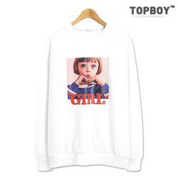 [탑보이] 걸 전사 맨투맨 티셔츠 (TR813)
