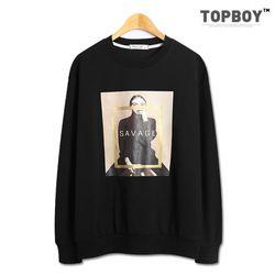 [탑보이] 사베지 전사 맨투맨 티셔츠 (TR812)