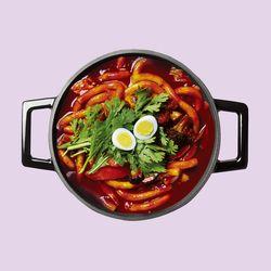 라비퀸 떡볶이 매운맛 세트(치즈사리포함)