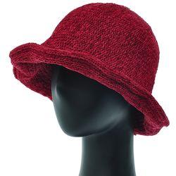 [더그레이]EKU24.튤립 벨벳 니트 여성 벙거지 모자