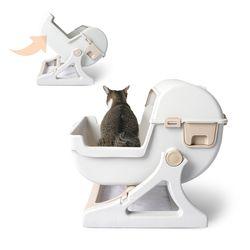 고양이 반자동 화장실