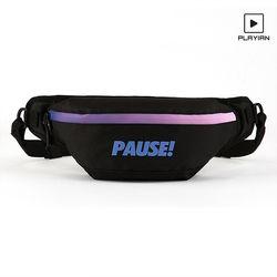 Pause waist bag 퍼즈 웨이스트백(EW05UBLK)