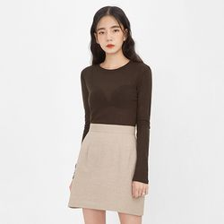 salon de herringbone skirt (s m)