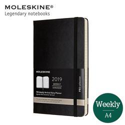 몰스킨 2019 프로 위클리 12개월(세로형) 하드A4 블랙