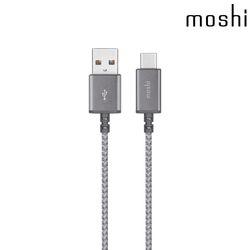 [모쉬카드지갑증정] 모쉬 USB-C to USB-A 충전 싱크 케이블 그레이