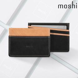 모쉬 소프트 식물성 가죽 카드 명함 지갑 블랙