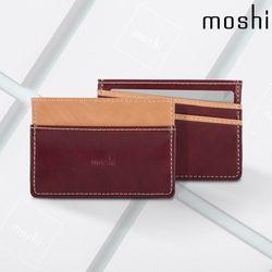 모쉬 소프트 식물성 가죽 카드 명함 지갑 레드