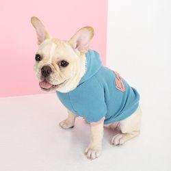 봉쥬르 팝 티셔츠-블루