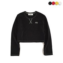 X-STITCH CROP T-SHIRT(4COLOR)(여성용)