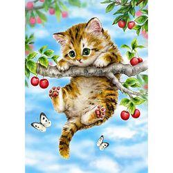 1000조각 직소퍼즐 - 체리나무위 아기 고양이 (HP1004)