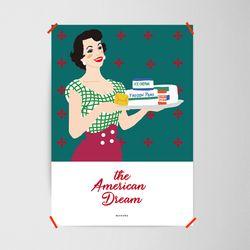 유니크 인테리어 디자인 포스터 M 아메리칸 드림 A3(중형)