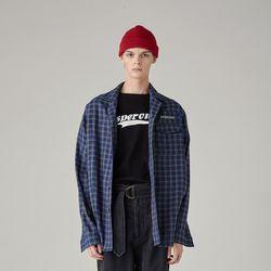 유니섹스 체크 셔츠(NAVY)
