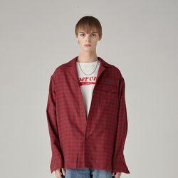 유니섹스 체크 셔츠(RED)