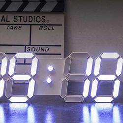 JHC 3D 무소음 LED 벽시계 인테리어시계 사이즈 33cm