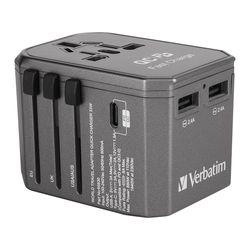 버바팀 여행용 3포트 33W QC3.0 해외 멀티 플러그 아답터 충전기